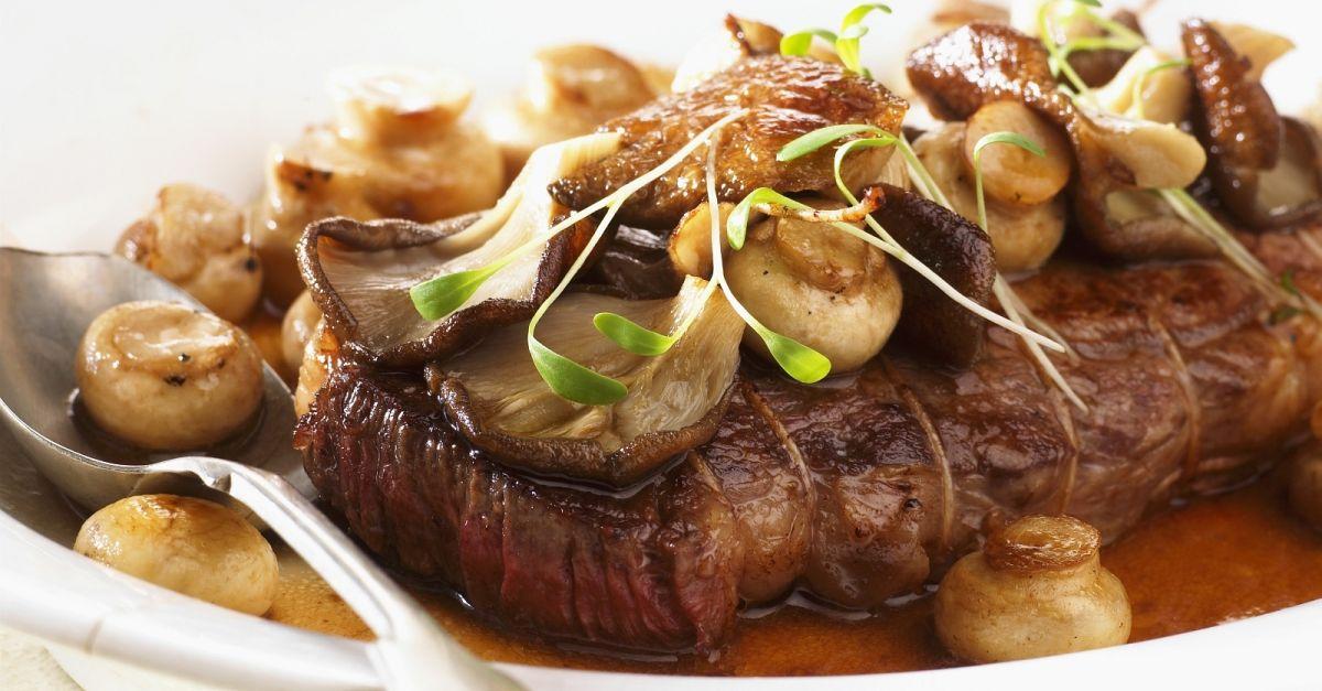abnehmen mit steak und salat