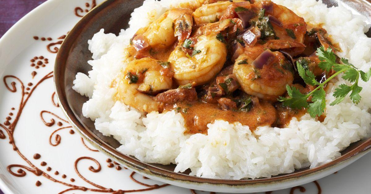 thai curry mit shrimps und reis rezept eat smarter. Black Bedroom Furniture Sets. Home Design Ideas
