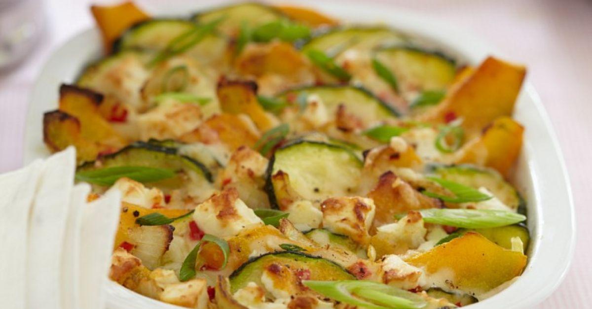 zucchini auflauf mit k rbis rezept eat smarter. Black Bedroom Furniture Sets. Home Design Ideas