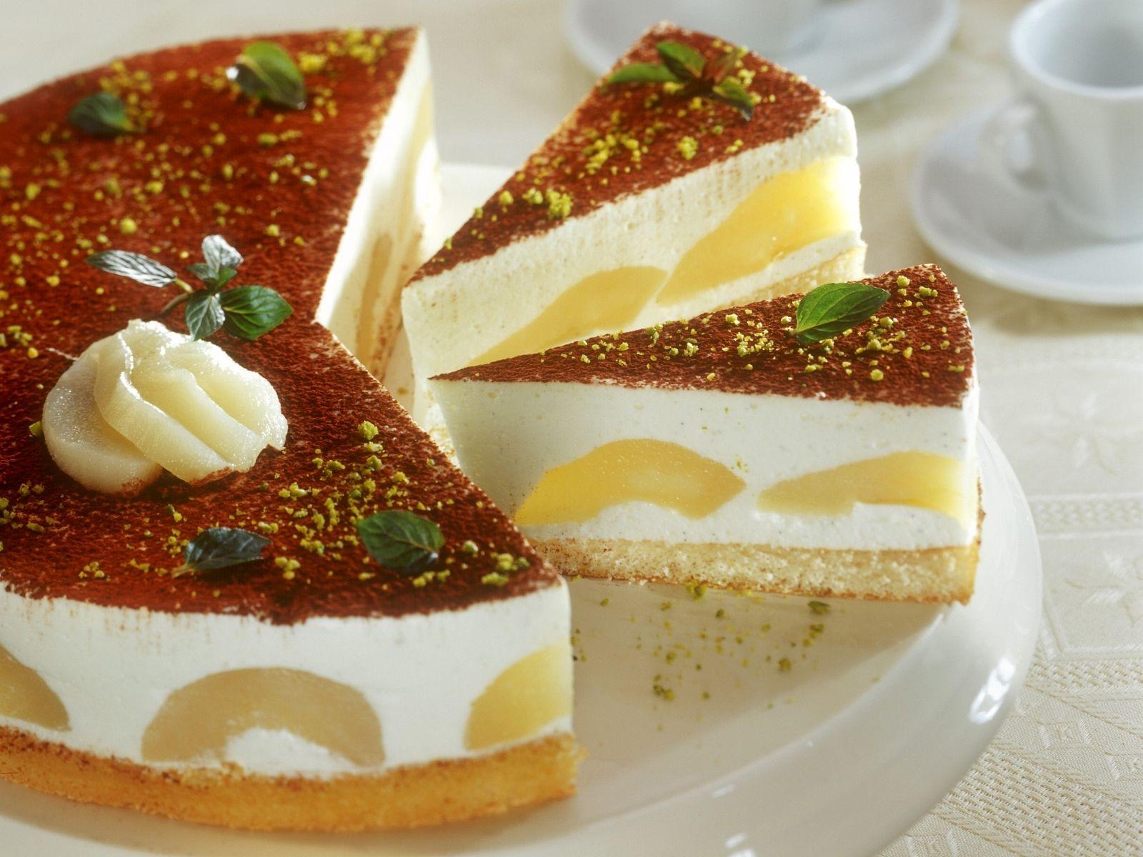 Birnen quark kuchen