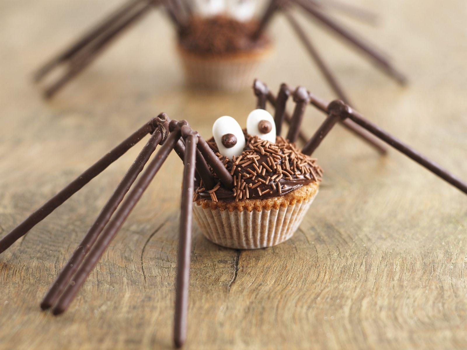 Halloween rezepte spinnen muffins