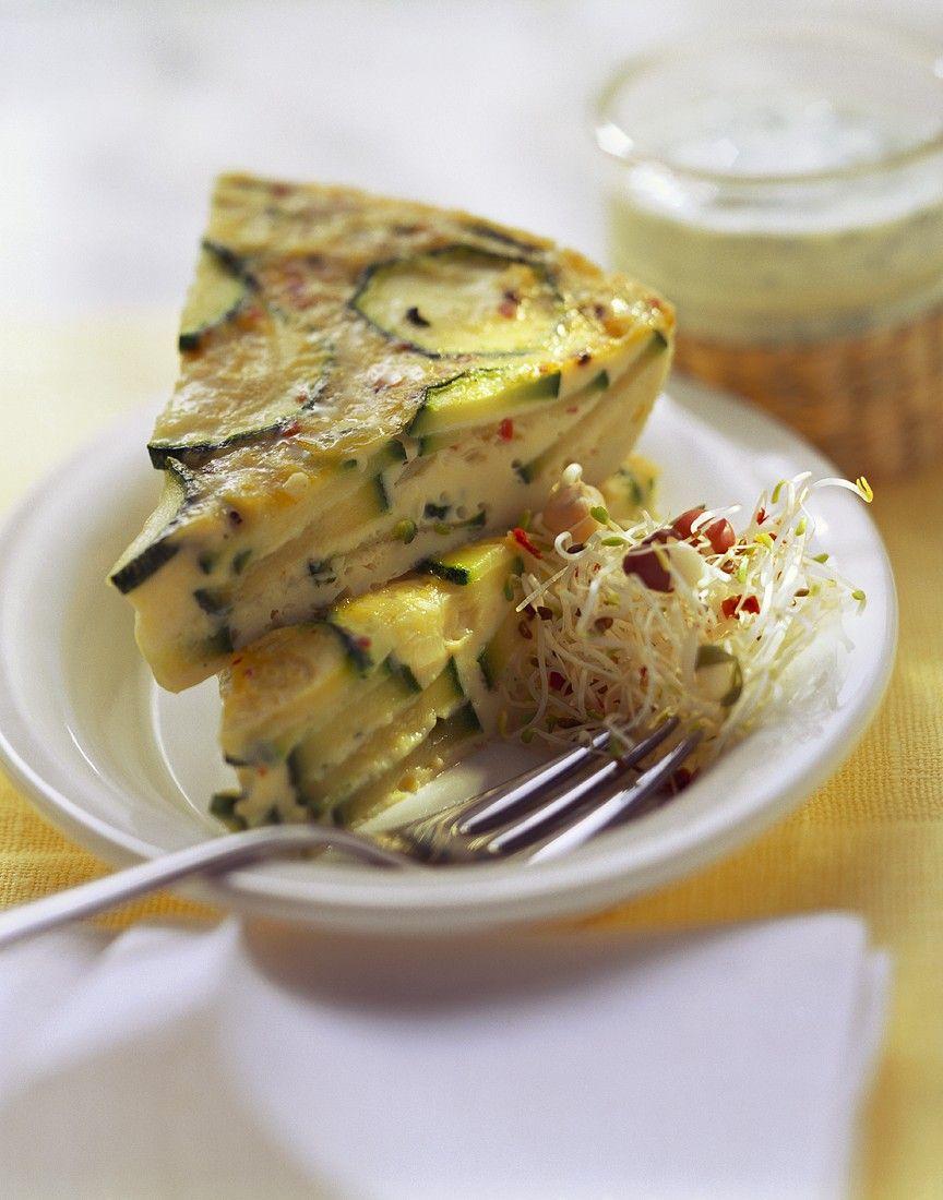 Zucchini speck kuchen
