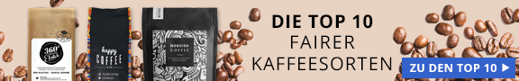 Banner Affiliate Artikel Top 10 fairer Kaffeesorten