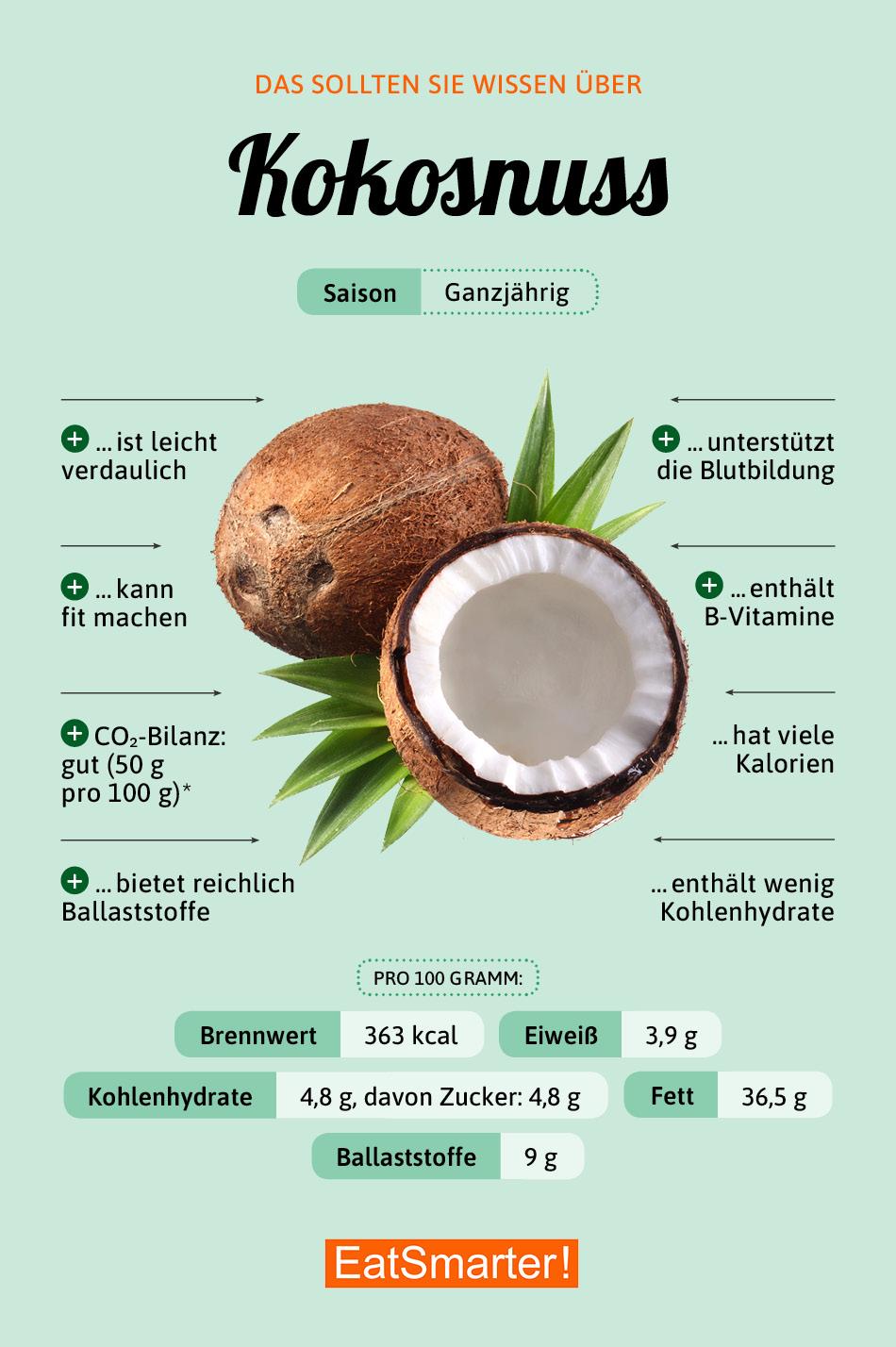 Infografik Kokosnuss