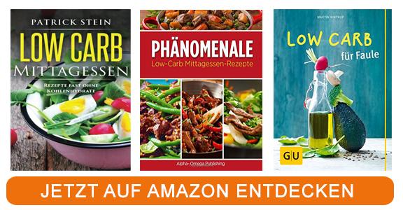 Kochbücher zum Thema Low Carb Mittagessen