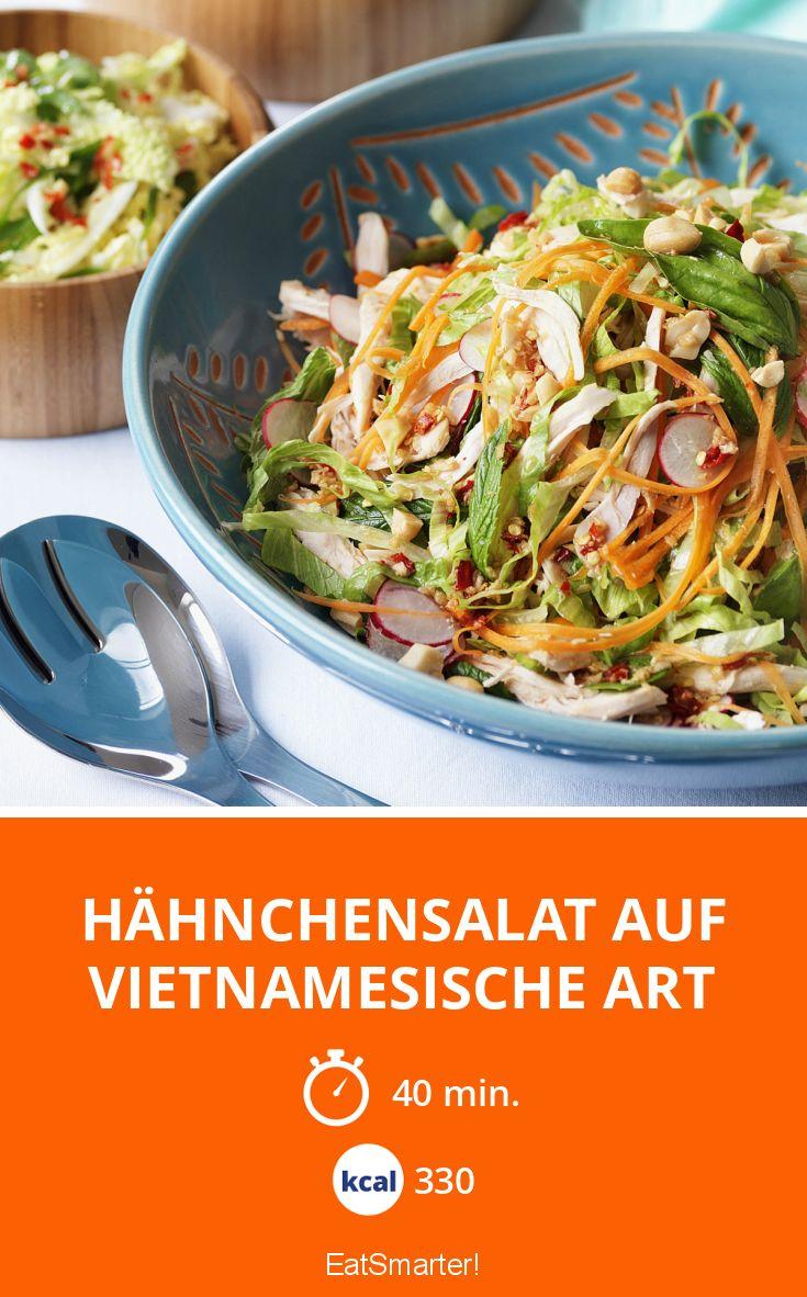hähnchensalat auf vietnamesische art rezept eat smarter