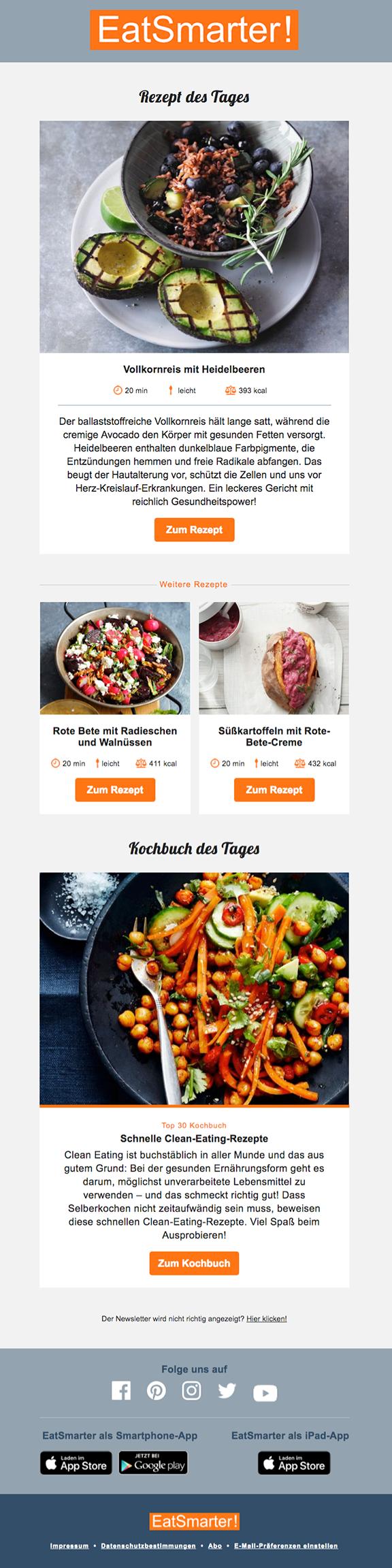 Newsletter-Vorschau: Smarte Rezepte