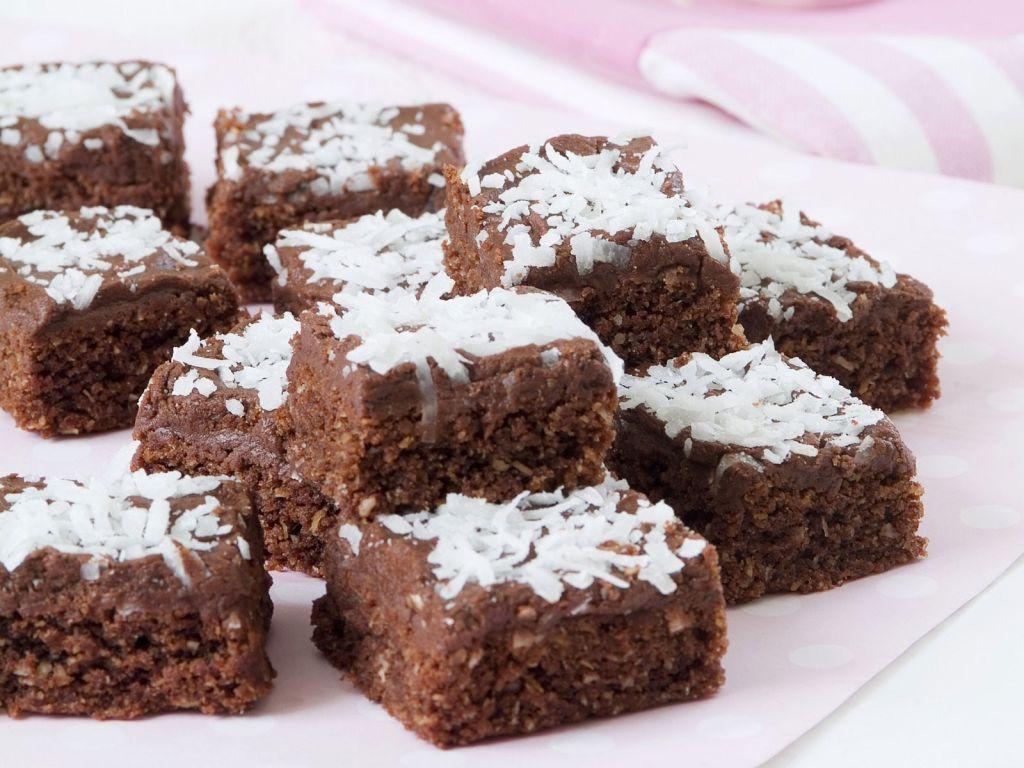 kokos brownies rezept eat smarter. Black Bedroom Furniture Sets. Home Design Ideas