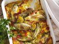 Chicorée-Kartoffel-Gratin mit Schinken Rezept