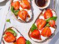 Erdbeer-Frischkäsebrote Rezept