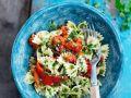 Farfalle mit gebackener Paprika Rezept