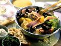 Fischsuppe mit Kräuterrouille Rezept
