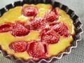 Flan mit Erdbeeren Rezept