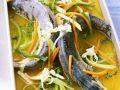 Forelle mit Meerrettich und Wurzelgemüse Rezept