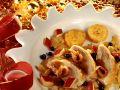 Fruchtige Ente mit Kartoffelplätzchen Rezept