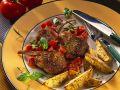 Gebratene Lammkoteletts mit Potato Wedges Rezept