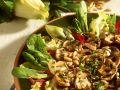 Gebratene Pilze auf Blattsalaten Rezept