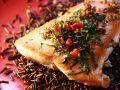 Gebratenes Lachsfilet auf Wildreis Rezept