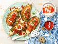 Gefüllte Auberginen mit Hackfleisch und Linsen Rezept