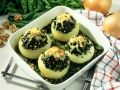 Gefüllte Gemüsezwiebeln Rezept