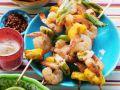 Gegrillte Shrimps-Ananasspieße Rezept