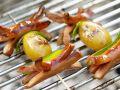 Gegrillte Würstchenspieße mit Kartoffeln Rezept