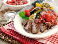 Gegrilltes Steak mit Gemüse Rezept