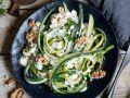 Gemüse-Tagliatelle mit Ziegenfrischkäsesauce Rezept