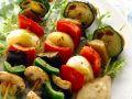 Gemüsespieße mit Auberginencreme Rezept