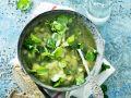 Gemüsesuppe mit Brunnenkresse Rezept