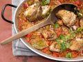 Geschmorter Reis mit Hähnchen auf spanische Art Rezept