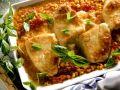 Gratinierte Putenschnitzel mit Mais und Tomaten Rezept