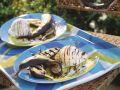 Grill-Banane mit Schokosoße und Vanilleeis Rezept