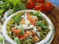 Grüne Bandnudeln mit Käsesauce Rezept