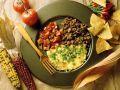 Hackfleisch mit Käseomelett und Salsa Rezept