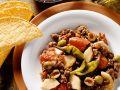 Hackfleischpfanne mit Tomaten, Äpfeln und Rosinen Rezept