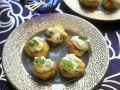 Hähnchenbuletten mit Ingwer dazu Mango-Koriander-Creme Rezept