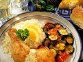 Hähnchenkeulen mit Kräutersauce und Gemüse Rezept