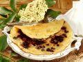Holunderbeeren-Pfannkuchen mit Sesam Rezept