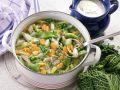 Hühner-Reis-Suppe mit Gemüse Rezept