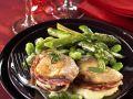 Kalbsfilet mit Mozzarella und Pancetta gefüllt Rezept