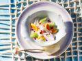 Karibischer Fischtopf mit Papaya und Granatapfel Rezept