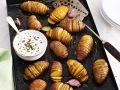 Kartoffelfächer mit Radieschen-Frischkäse Rezept