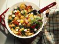 Kartoffelpfanne mit Gemüse und Käse Rezept