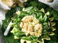 Krabben-Rührei mit Salat Rezept