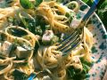 Kräuter-Spaghetti mit Schafskäse Rezept