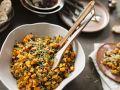 Kürbissalat mit Linsen und Mango Rezept