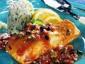 Lachs mit Tomaten-Kapernsauce Rezept