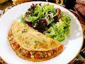 Maispfannkuchen mit Lamm-Gemüse-Füllung und Salat Rezept