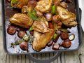 Geschmortes Hähnchen in Rotwein Rezept